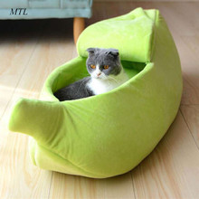 MTL pet bed banana cat kennel cushion house  for cats home puppy mat dog basket