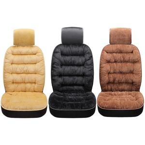 Image 2 - Comfortable Car Seat Cushion With Backrest Thickened Plush Winter Seat Cushion Universal Car Accessories
