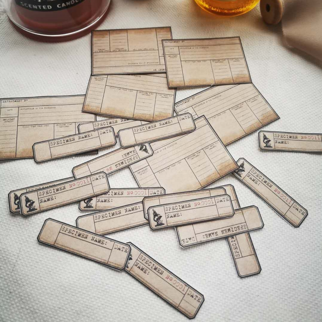 20 unidades/pacote etiqueta do vintage etiquetas de bilhete etiqueta diy artesanato scrapbooking álbum lixo diário planejador adesivos decorativos