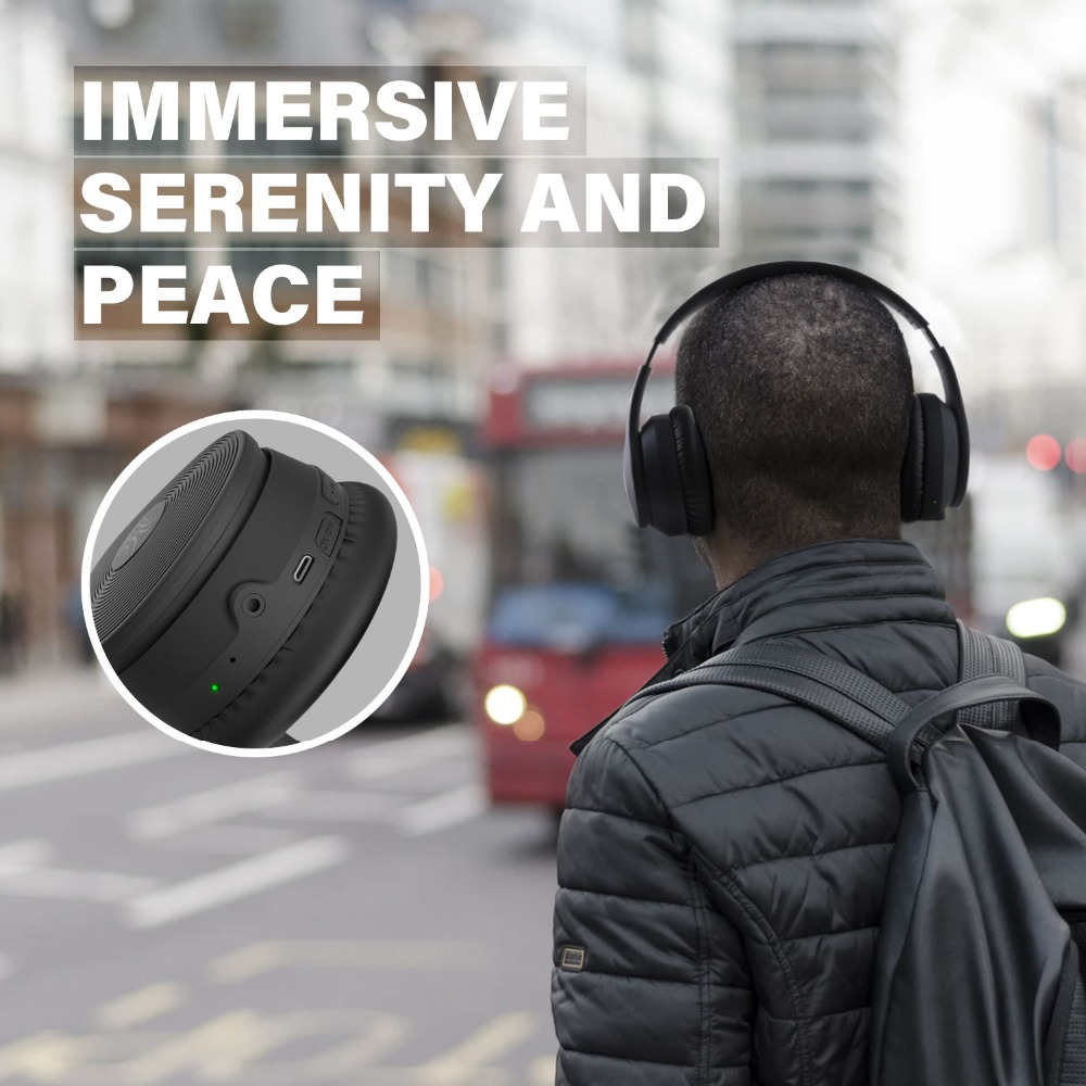 Oneodio A40 Wireless Headphones Active Noise Cancelling Bluetooth Headphone V5.0 ANC Headset With Microphone For Phone Over Ear