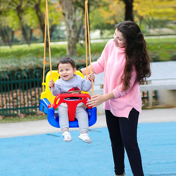 NewThree in one  Swing seat for kids  Hammock Safety Hanging Hammock Chair Swing Rope Outdoor Indoor Hanging Chair Garden Seat