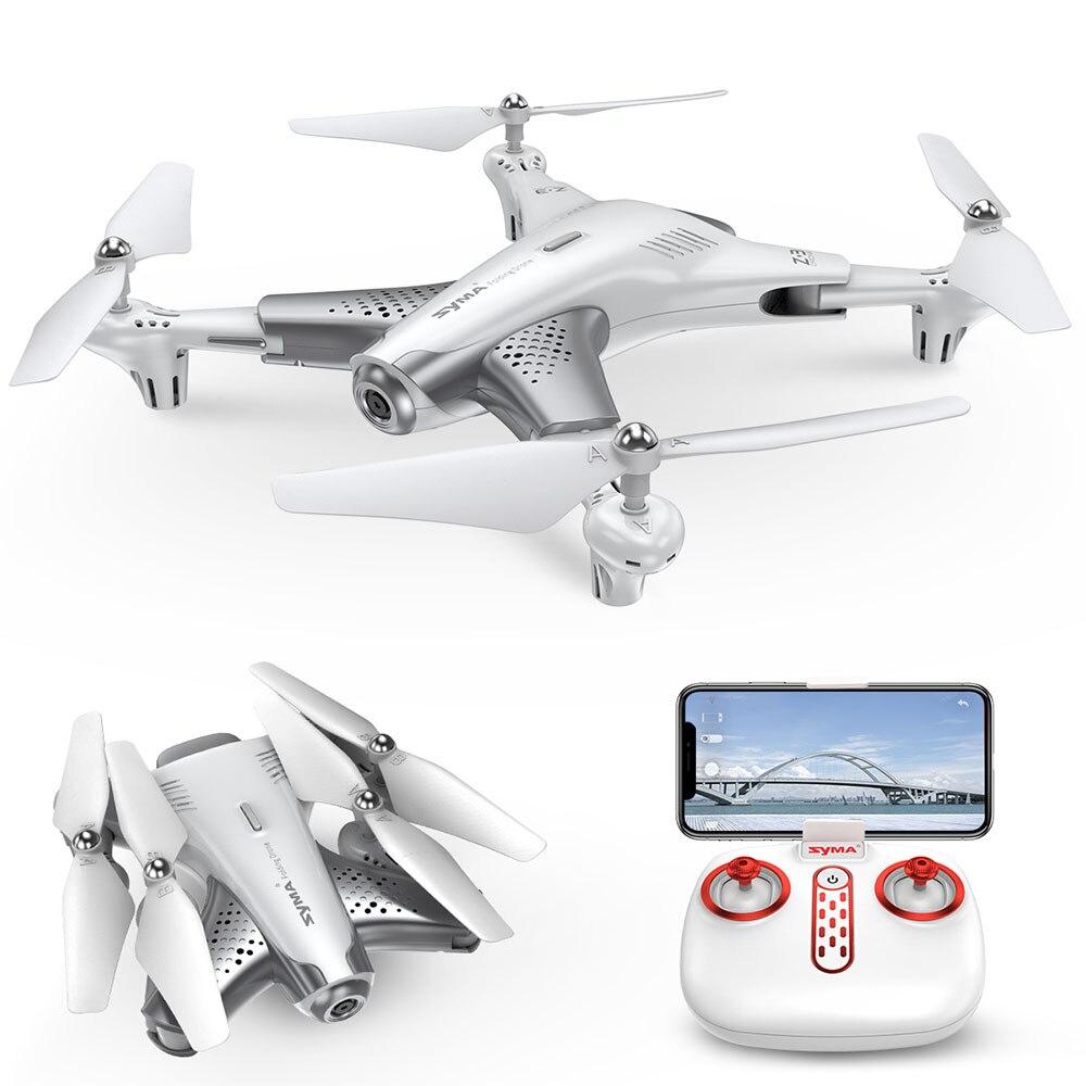 Oyuncaklar ve Hobi Ürünleri'ten RC Helikopterler'de Syma Z3 RC helikopter akıllı katlanabilir RC Drone ile 720p FPV WIFI HD kamera gerçek zamanlı irtifa tutun başsız modu Quadcopter oyuncaklar title=