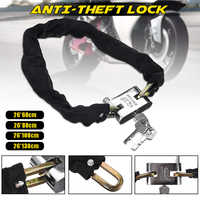 26x130cm Reinforced Cloth Covered Square Head Anti-Theft Lock Bicycle E-Bicycle Motorcycle Chain Lock Bicycle Accessories 4 Size