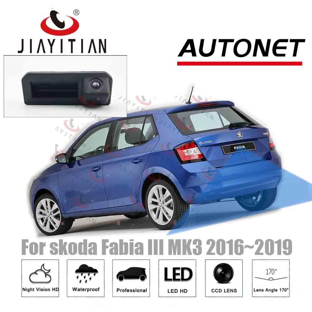 JIAYITIAN Trunk Handle Camera For Skoda Fabia 3 Fabia III NJ MK3 2016 2017 2018 2019 Reverse Backup Camera Rear View Camera CCD