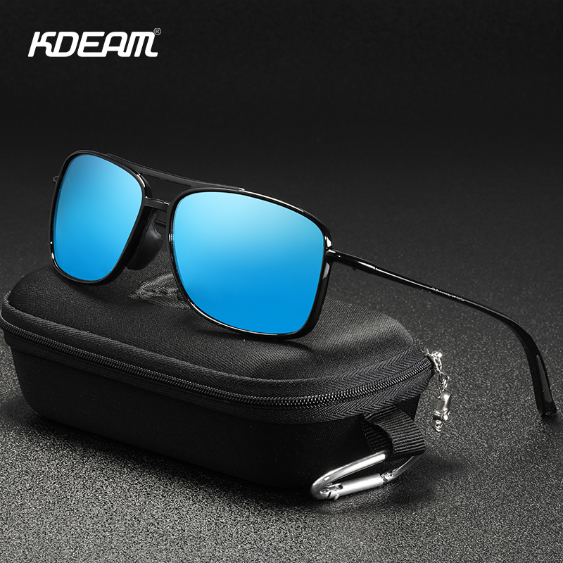 KDEAM Ultra Light Men's Polarized Sunglasses Rectangle Golf Climbing Driving Sun Glasses Men Wear-resistant TR90 Frame