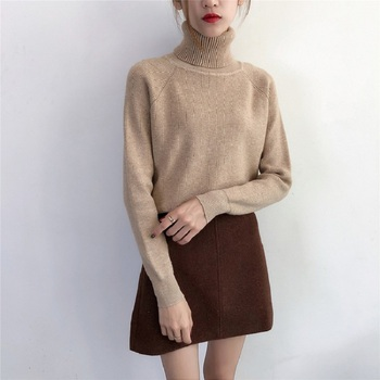2020 Women's Winter Turtleneck Sweater thick Knitted Jumper Truien Dames Tops Turtleneck Sweater Women's Pullover Women Sweater turtleneck husky turtleneck