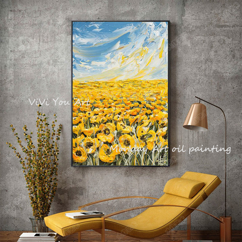 100-Hand-Painted-Abstract-Sunflower-Art-Painting-On-Canvas-Wall-Art-Wall-Adornment-Pictures-Painting-For (7)