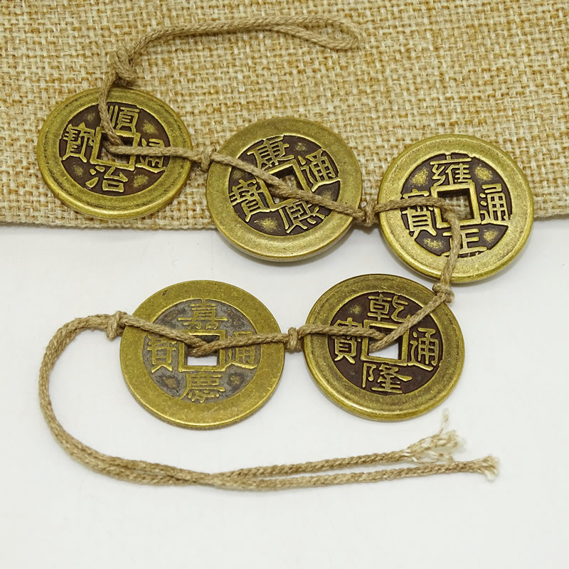 1 Set New 25mm Ancient Emperors Coins Chinese Copper Coins Old Dynasty Currency Crafts Bronze Five Emperors Money Eacles