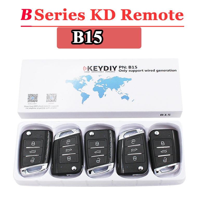 (5PCS/LOT)B15 KEYDIY  Remote Control 3 Button B Series Remote Control For KD900 URG200 KD200 Make New Remote Key