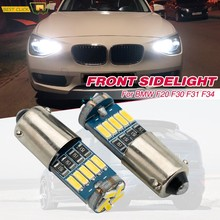 2 uds xenón blanco H6W Bax9S LED Canbus bombillas lateral aparcamiento Luz brillante No errores para BMW F30 F31 F34 320d 320i 328i 335i