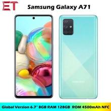 Samsung galaxy a71 a715f/ds da versão global telefone móvel 8gb ram 128gb rom octa núcleo 6.7