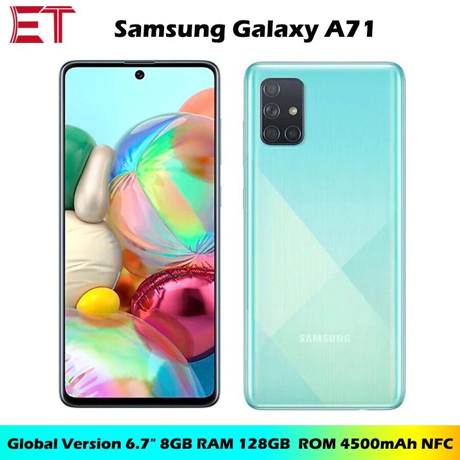"Samsung Galaxy-móvil A71 A715F/DS, 8GB RAM, 128GB ROM, Octa Core, 6,7 "", 1080x2400, 4500mAh, NFC, Dual SIM, Android 10, versión Global"