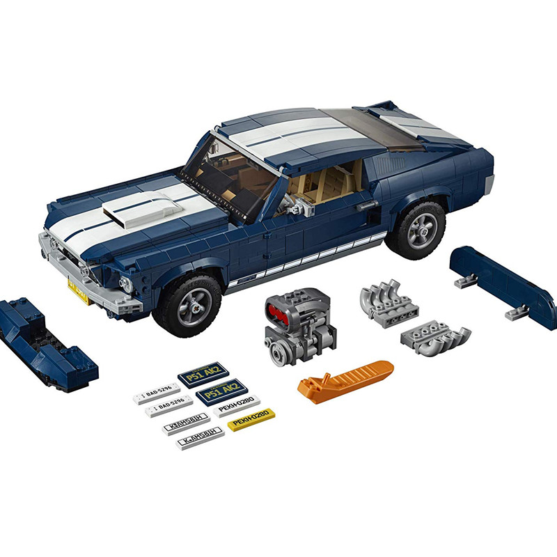 Creator Forded Mustanged Car Classic American Muscle Car Racing Vehicle Building Block Bricks Toys Compatible LEPINING 10265