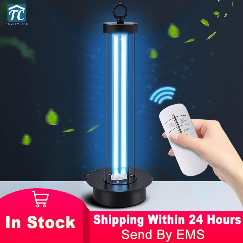 38W UV Sterilizer Lamp Timer Remote Control UVC Ultraviolet Disinfection Light Desktop Quartz Portable Germicidal Lamp