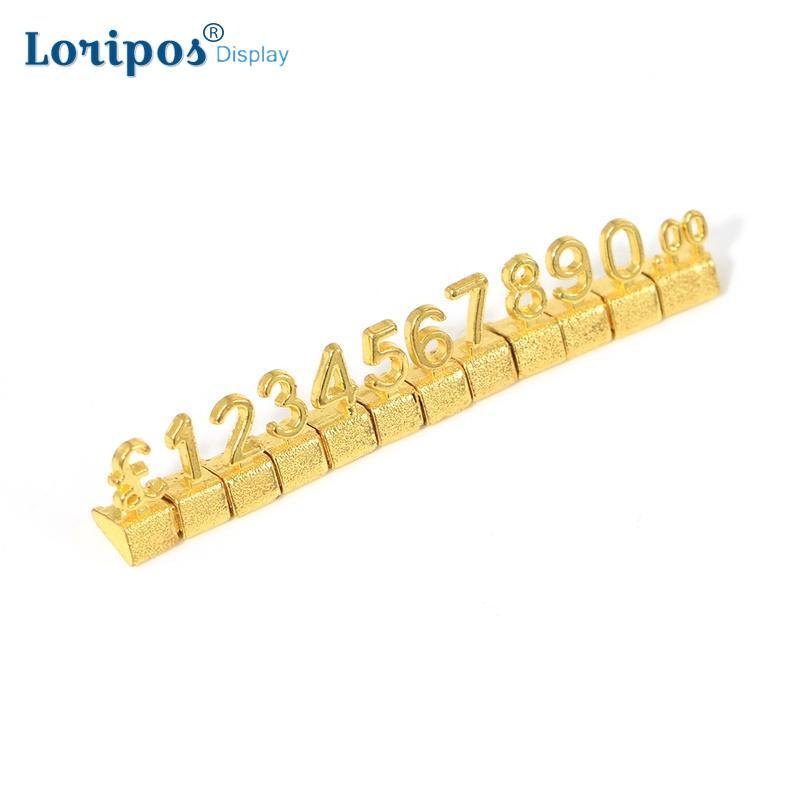 Luxury 3D Metal Shelving AdjustableTag Callouts Price Display Euro Pound Price Numeral Cubes Assembly Lable Blocks Stick