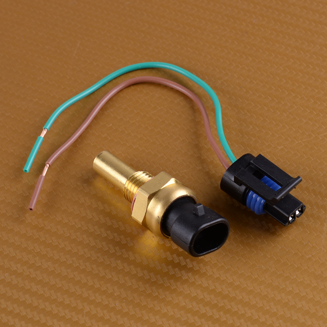 beler Engine Coolant Temperature Sensor with Connector Fit for Buick Cadillac GMC Daewoo Isuzu Hummer Pontiac 12162193 15326388
