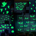 Halloween Licht Tattoo Aufkleber Geist Hexe Kürbis Bat Kinder Gefälschte Tattoo Glowing in Dark Wasserdicht Temporäre Tätowierung Aufkleber