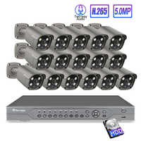 Techage 16CH 5MP 48V H.265 POE NVR Sicherheit AI IP Kamera System 2-Weg Audio Lautsprecher Onvif CCTV sicherheit Video Überwachung Kit