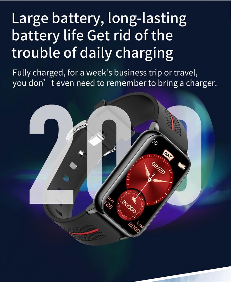 Hbf3bb98ef39c43c9928c5fb7dc1af731L New Smart Band Watch Fitness Tracker Bracelet Waterproof Smartwatch Heart Rate Monitor Blood Oxygen LED Screen For Huawei Xiaomi