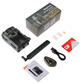 WingHome 480Ace 4G Hunting Trail Camera 24MP HD Cloud APP Camera 940nm IR Forest Wildlife Game Camera with Cloud system  GPS APP 5