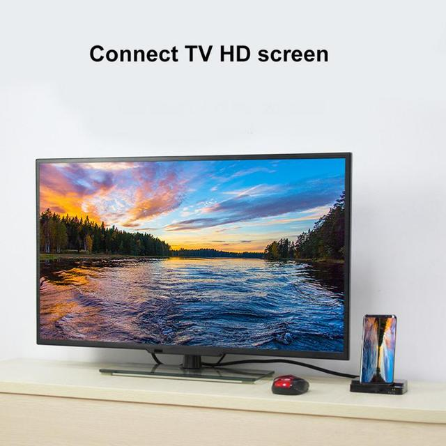 6 en 1 multi-ports type-c vers HDMI 2xUSB3.0 USB-C SD TF carte PD HUB adaptateur type-c usb C station daccueil