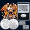 WR Königin Metall Herausforderung Münze Königin Silber Überzogene Gedenkmünze Vintage Wohnkultur UK Band Silber Münzen für Fans Souvenir