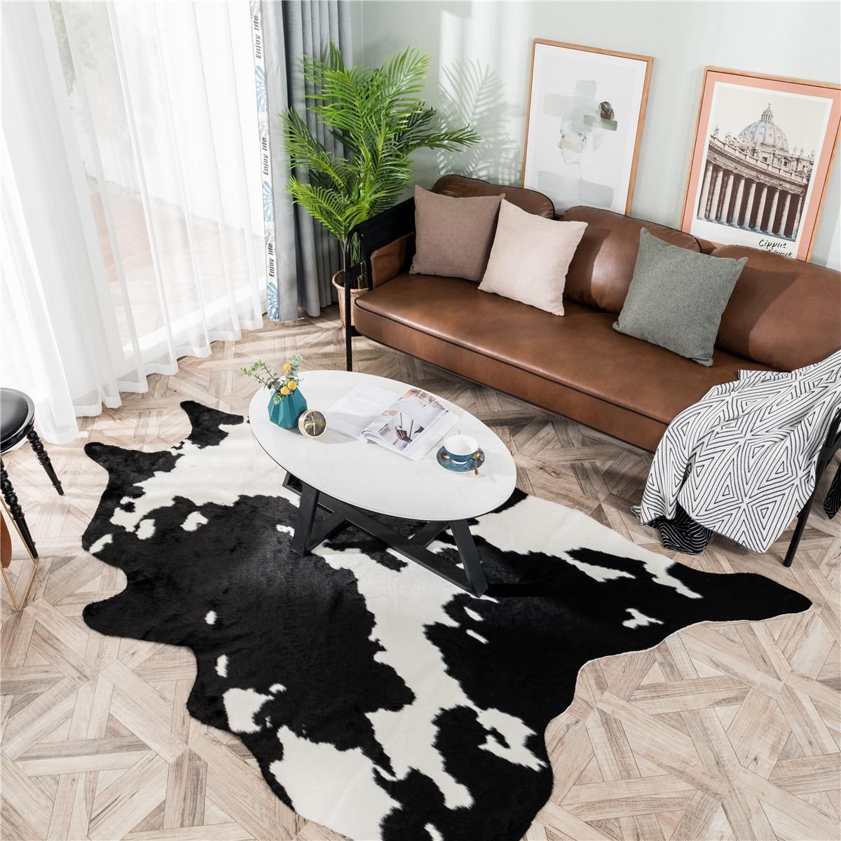 2020 Новый Белый Черный корова искусственная кожа Зебра воловья кожа ковер большой размер коричневый белый искусственная кожа натуральная полоса ковбойский коврик