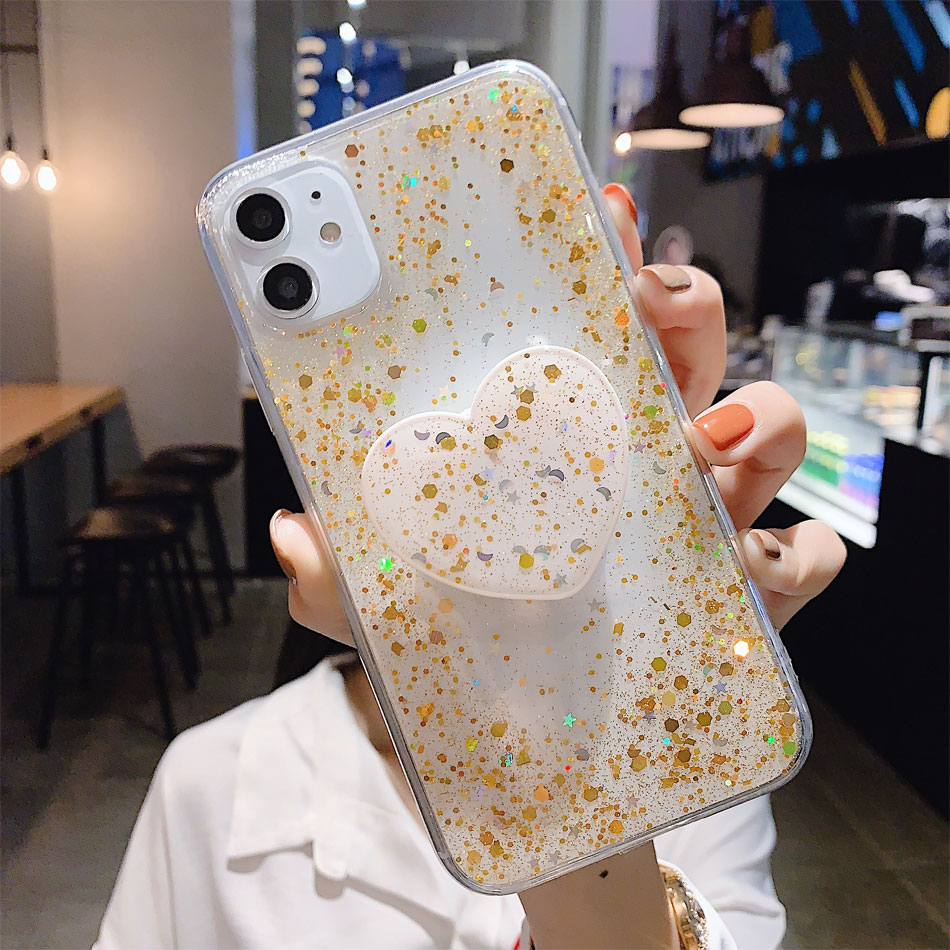 Hbf3c154aaf0343a38046b5a5db4ffc29x - Bling Glitter Phone Case For iphone 11 Case 11 pro max 6 6s 7 8 Plus X XR XS Max Star Sequin Cover Funda Stand Holder Coque