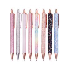 20 sztuk król kulkowe długopisy Boutique 1.0mm brokatowe cekiny kryształowy długopis trzy kolory opcjonalnie szkolne materiały papiernicze biurowe pisanie
