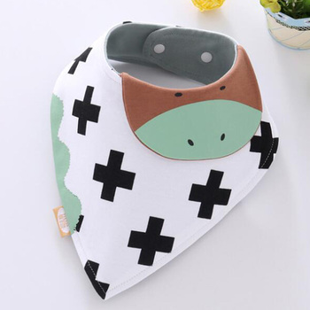 AmyaBaby Muslin Bandana Bibs Cartoon Cotton Triangle Baby Feeding Bibs Saliva Towel Slabber Newborn Boy Girl Burp Cloth image