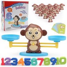 Обезьяна баланс весы игра Математика матч настольные игрушки Щенок количество баланс игры дети Монтессори развивающие игрушки