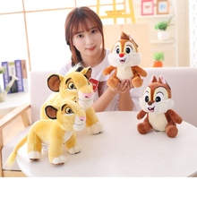 Good Quality Cute Simba The Lion King Plush Toys Movie Soft Stuffed Animals Chip&Dale Squirrel Doll for Children Birthday Gifts