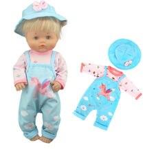 2020 nova chegada bonecas terno para 42 cm nenuco boneca 17 polegadas roupas de boneca do bebê