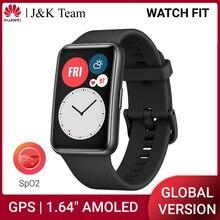 HUAWEI כושר שעון חכם שעון GPS 1.64 AMOLED הגלובלי גרסה SpO2 10 ימים סוללה חיים GPS 24 שעה קצב לב צג