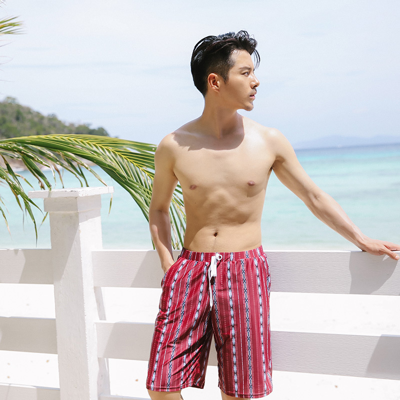Beach Shorts Men's Quick-Dry Loose-Fit Seaside Holiday Large Size Swimming Trunks Couple Clothes Short Hot Springs Boxer Shorts