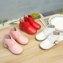 Newstylish Boys Grils Kids Casual Ankle Boots Children PU &3 Colors Winter Slippers for Kids Hot Fashion Martin Winter Boots(China)