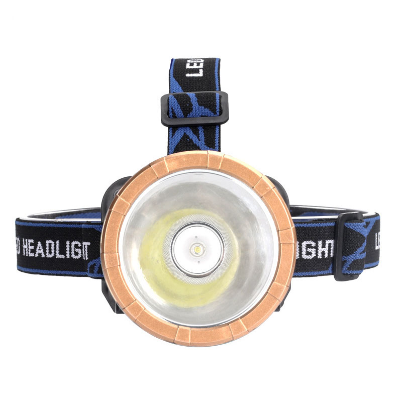 Headlamp Flashlight LED Large Fixed Focus Headlight Glare Lighting Shot Miner's Lamp  Night Fishing With ChargerElectric Torch