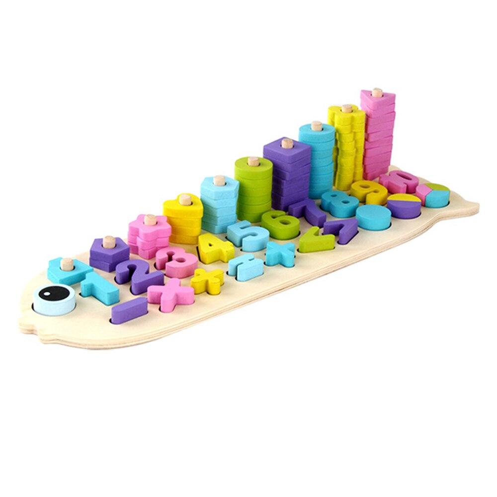 1 pièces bloc de construction en bois jouet Kit enfants éducatif correspondant jouet d'apprentissage coloré numéro jouet d'apprentissage précoce