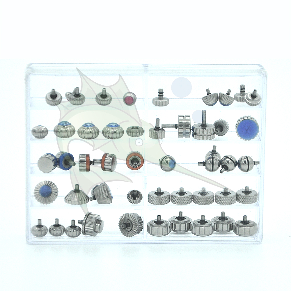 High Quality Watch Crown Replacement Parts Pumpkin Shape Watch Crown Set For Watchmakers