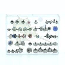 Piezas de Repuesto de corona de reloj de alta calidad, conjunto de corona de reloj con forma de calabaza para relojeros