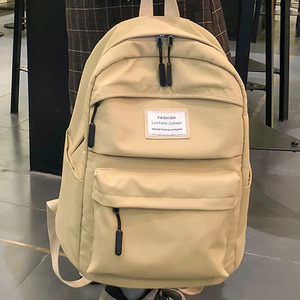 Image 3 - JOYPESSIE moda su geçirmez sırt çantası siyah okul çantası kadın erkek basit genç kız için naylon büyük seyahat Mochilas sırt çantası