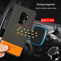 Genuine leather Car phone case For Samsung Galaxy A50 A70 S10 S7 S8 S9 Plus A8 A7 2018 Note 10 Plus 360 Full protective cover|Fitted Cases| |  -