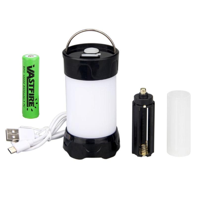 LEDGLE Retractable Battery Outdoor Camping LED Lantern Flashlight Light US