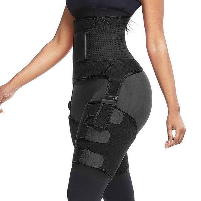 Waist And Thigh Trimmer Thermo Shaper Neoprene Waist And Thigh Trainer High Waist Corset Sweat Body Shapewear Women Fitness Belt 3