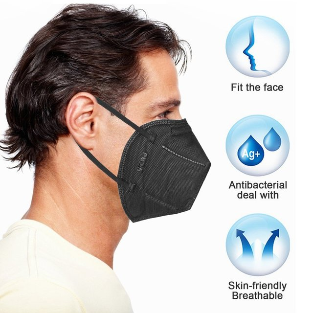1/5/10/20PCS Black Face Mouth Mask Filter Pad Fashion Anti Flu Mask Pollution Dustproof Breathing Safety Caps for KF94 N95 KN95 1