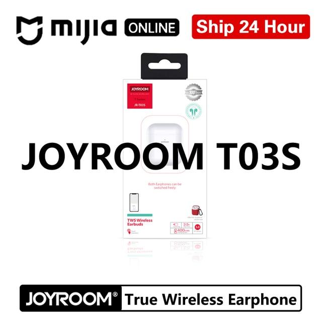 Joyroom T03S tws Binaural Wireless bluetooths 5.0 earphones In Ear True wireless  Airbuds Pop Up Window Gaming Gamer Earbuds