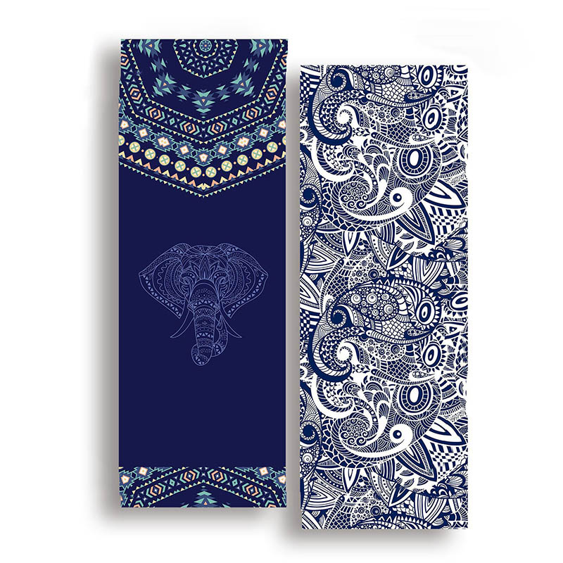 185*63cm Double Sided Yoga Towel Non-slip Portable Travel Yoga Mat Towel Pilates Cover Fitness Yoga Blanket