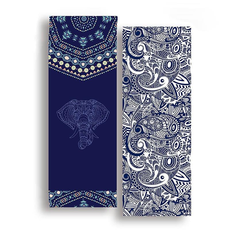 185*63cm Double Sided Yoga Towel Non-slip Portable Travel Yoga Mat Towel Pilates Cover Fitness Yoga Blanket