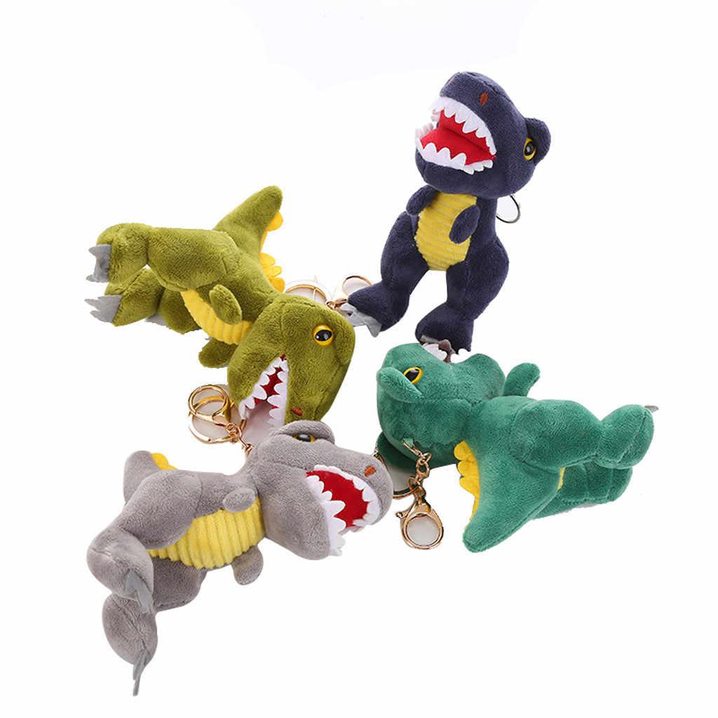 Casa animal bonito brinquedos de pelúcia dinossauro macio animais de pelúcia bonecas crianças presente de aniversário novo pelúcia chaveiros bonecas presente de pelúcia brinquedos de pelúcia