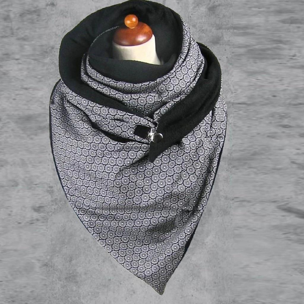 ALI shop ...  ... 4000529826738 ... 4 ... Fashion Women Soild Dot Printing Button Soft Wrap Casual Warm Scarves Shawls Soft Casual 2020 dropshipping шарфов#G1 ...